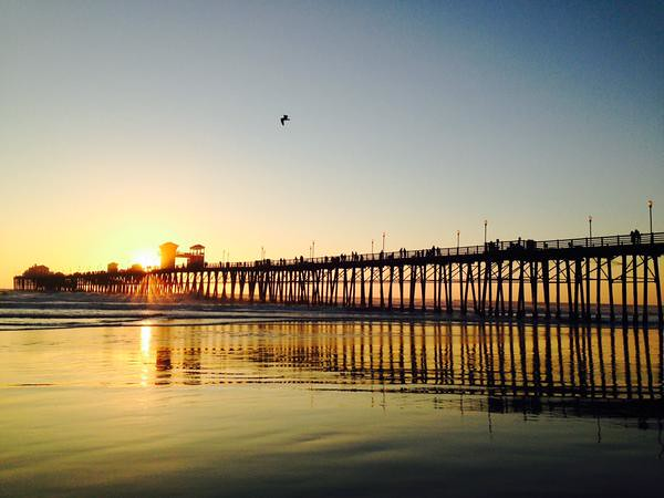 Sunset at the Oceanside Pier | Things to do in Oceanside, CA