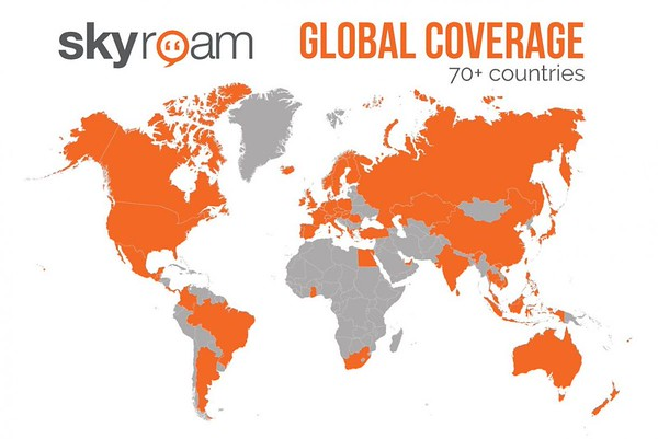 Skyroam mobile hotspot review: Coverage map