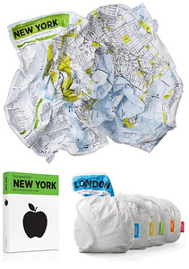 Crumpled City Maps | Gifts for Travelers