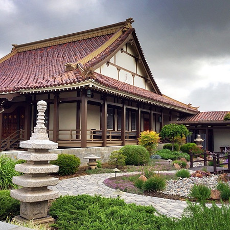 The San Jose Betsuin Buddhist Church looks like any temple in Japan.