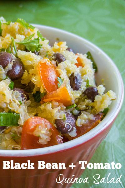 The perfect summer salad recipe: Black bean + tomato quinoa salad