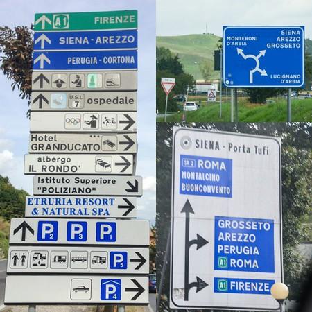 Crazy Italian road signs