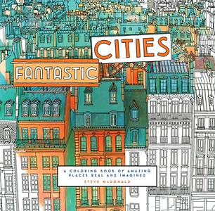 Fantastic Cities Coloring Book | Gifts for Travelers